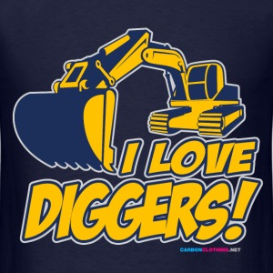 I Love Diggers - Men's T-Shirt