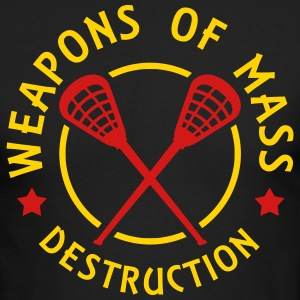 Lacrosse Weapons of Mass Destruction Long Sleeve Shirts - Men's Long Sleeve T-Shirt by Next Level