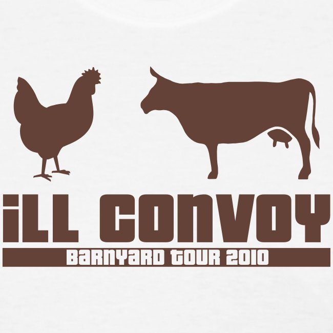 iLL CONVOY - BROWN CHICKEN BROWN COW T-Shirt (Womens)