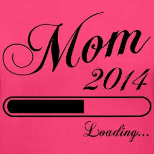 Mom Loading 2014 Women's T-Shirts - Women's V-Neck T-Shirt