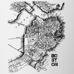Boston Old Map Apparel T-shirts Bottles & Mugs - Coffee/Tea Mug