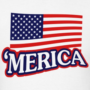 'Merica Shirt - White - Men's T-Shirt