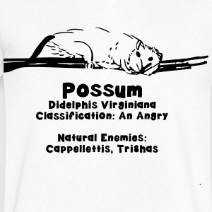 Most Popular Girls in School Possum T-Shirts - Men's V-Neck T-Shirt by Canvas