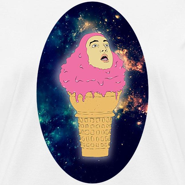 ice cream oval woman
