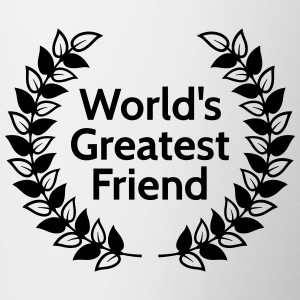 worlds greatest friend Bottles & Mugs - Contrast Coffee Mug