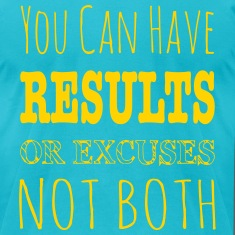 Results Or Excuses Not Both - Workout Inspiration T-Shirts