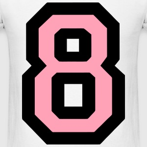 Number 8 Filled T-Shirts - Men's T-Shirt