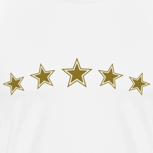 5 Gold Stars, Chef Winner Best Team Sports Award T-Shirts - Men's Premium T-Shirt