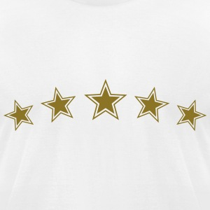 5 Gold Stars, Chef Winner Best Team Sports Award T-Shirts - Men's T-Shirt by American Apparel