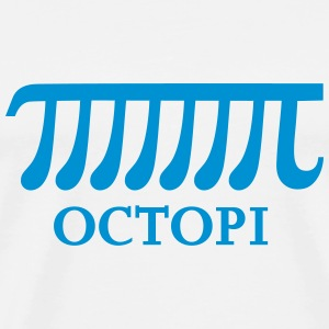 Octopi, Pi, Math, Mathematics, Number, Octopus T-Shirts - Men's Premium T-Shirt