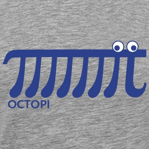 Pi, Math, Mathematics, Octopi, Number, Octopus T-Shirts - Men's Premium T-Shirt