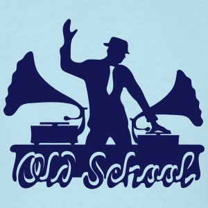 Old School DJ, Gramophone, Music Dance Club Party T-Shirts - Men's T-Shirt