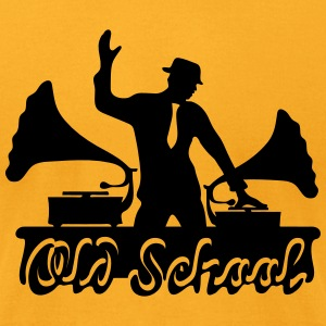 Old School DJ, Gramophone, Music Dance Club Party T-Shirts - Men's T-Shirt by American Apparel