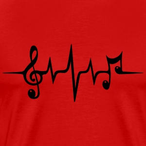 Heart Rate Pulse Music Note Clef Electro Classic T-Shirts - Men's Premium T-Shirt