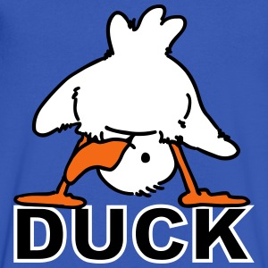 Ducking Duck - Men's V-Neck T-Shirt by Canvas