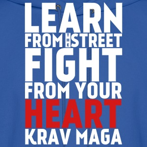 Learn Krav Maga black with red - Men's Hoodie