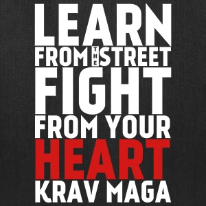 Learn Krav Maga white with red - Tote Bag