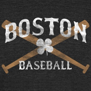 Boston Baseball Shamrock Apparel T-Shirts - Unisex Tri-Blend T-Shirt by American Apparel