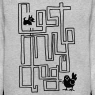 Design ~ Men's Sweater - Black maze print