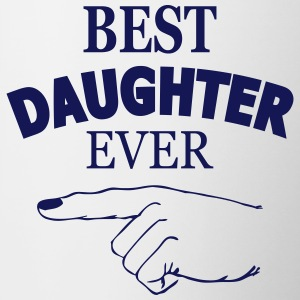 best daughter ever Bottles & Mugs - Contrast Coffee Mug