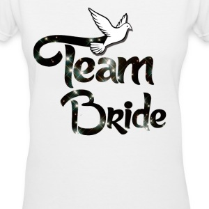 Team Bride Women's T-Shirts - Women's V-Neck T-Shirt