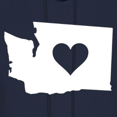 Heart in Washington Hoodies