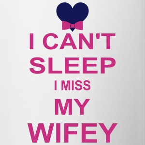 I Can't Sleep I Miss My wifey Bottles & Mugs - Contrast Coffee Mug