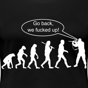 Evolution: Go Back ! - Women's Premium T-Shirt