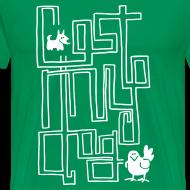 Design ~ Men's Premium T - White Maze Print