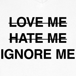 Ignore me T-Shirts - Men's V-Neck T-Shirt by Canvas