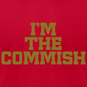 I'm The Commish (Red & Metallic Gold) - Men's T-Shirt by American Apparel