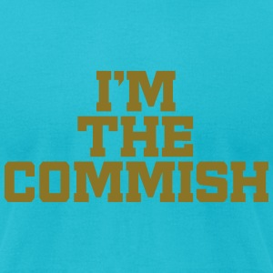 I'm The Commish (Turquoise & Metallic Gold) - Men's T-Shirt by American Apparel