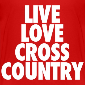Live Love Cross Country Kids' Shirts - Kids' Premium T-Shirt
