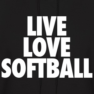Live Love Softball Hoodies - Men's Hoodie