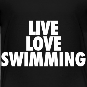 Live Love Swimming Kids' Shirts - Kids' Premium T-Shirt
