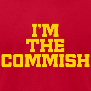 I'm The Commish (Powder Blue & Yellow) - Men's T-Shirt by American Apparel