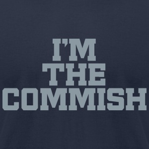 I'm The Commish (Navy & Metallic Silver) - Men's T-Shirt by American Apparel