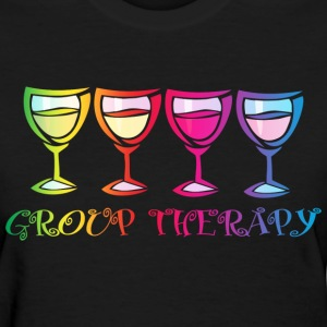 Wine Group Therapy 2 Women's T-Shirts - Women's T-Shirt
