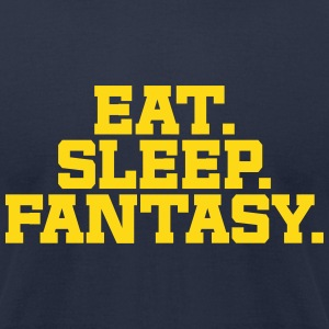 Eat. Sleep. Fantasy. (Navy & Yellow) - Men's T-Shirt by American Apparel