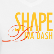 Design ~ Diva Dash Script V Neck