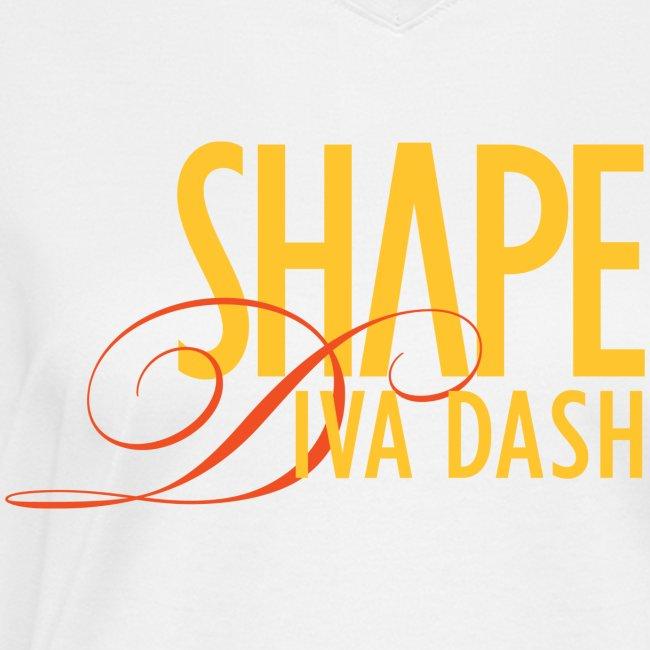 Diva Dash Script V Neck