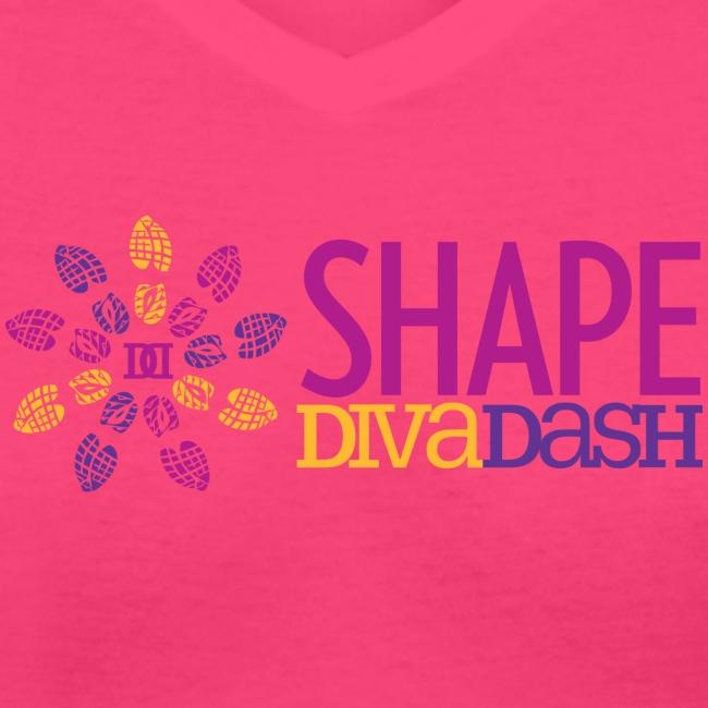 Diva Dash Logo V Neck