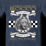 Design ~ K9 Rocco Memorial T Shirt. larger sizes.