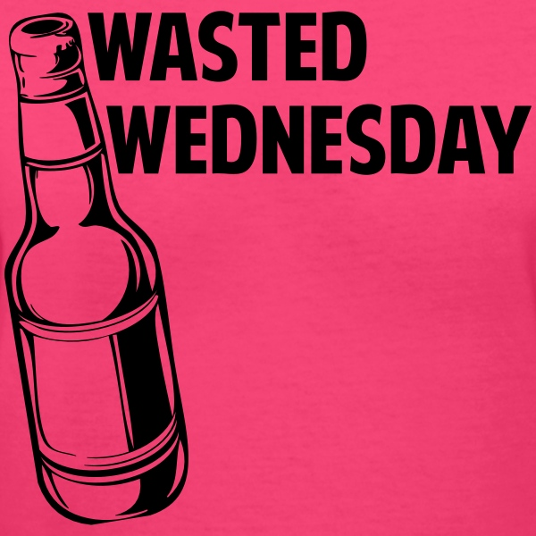 Wasted Wednesday Women's T-Shirts - Women's V-Neck T-Shirt