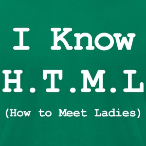 I KNOW HTML - SALE T-Shirts - Men's T-Shirt by American Apparel