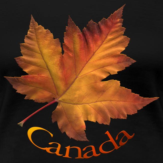 Women's Canada T-shirt Plus Size Maple Leaf Souvenir T-shirts