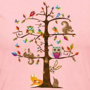 colorful animals on a tree  Long Sleeve Shirts - Women's Long Sleeve Jersey T-Shirt