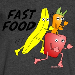 Fast Food T-Shirts - Men's V-Neck T-Shirt by Canvas