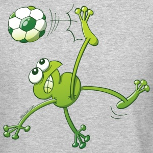 Frog Executing a Bycicle Kick with a Soccer Ball Long Sleeve Shirts - Crewneck Sweatshirt