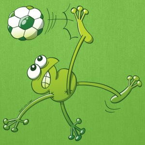 Frog Executing a Bycicle Kick with a Soccer Ball Bags & backpacks - Tote Bag